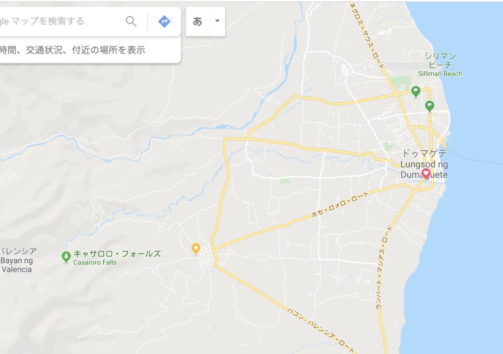 グーグルマップ・ドゥマゲテ