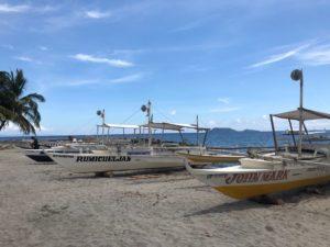 マラタパイからアポ島への渡し船