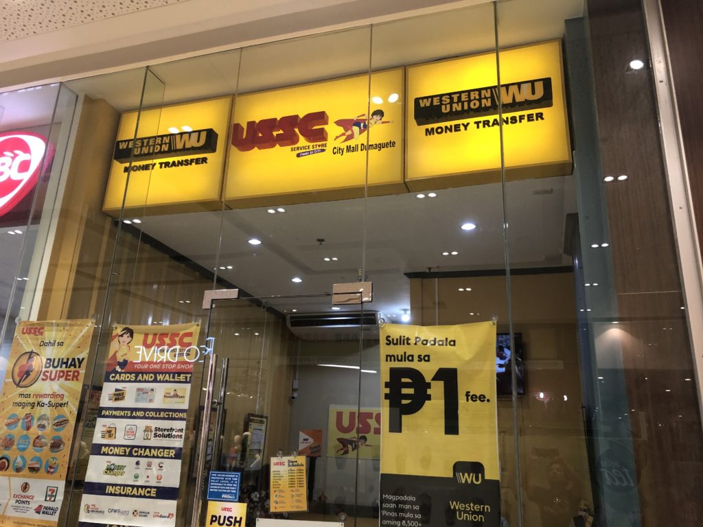 フィリピンで有名な海外送金・ウエスタンユニオン