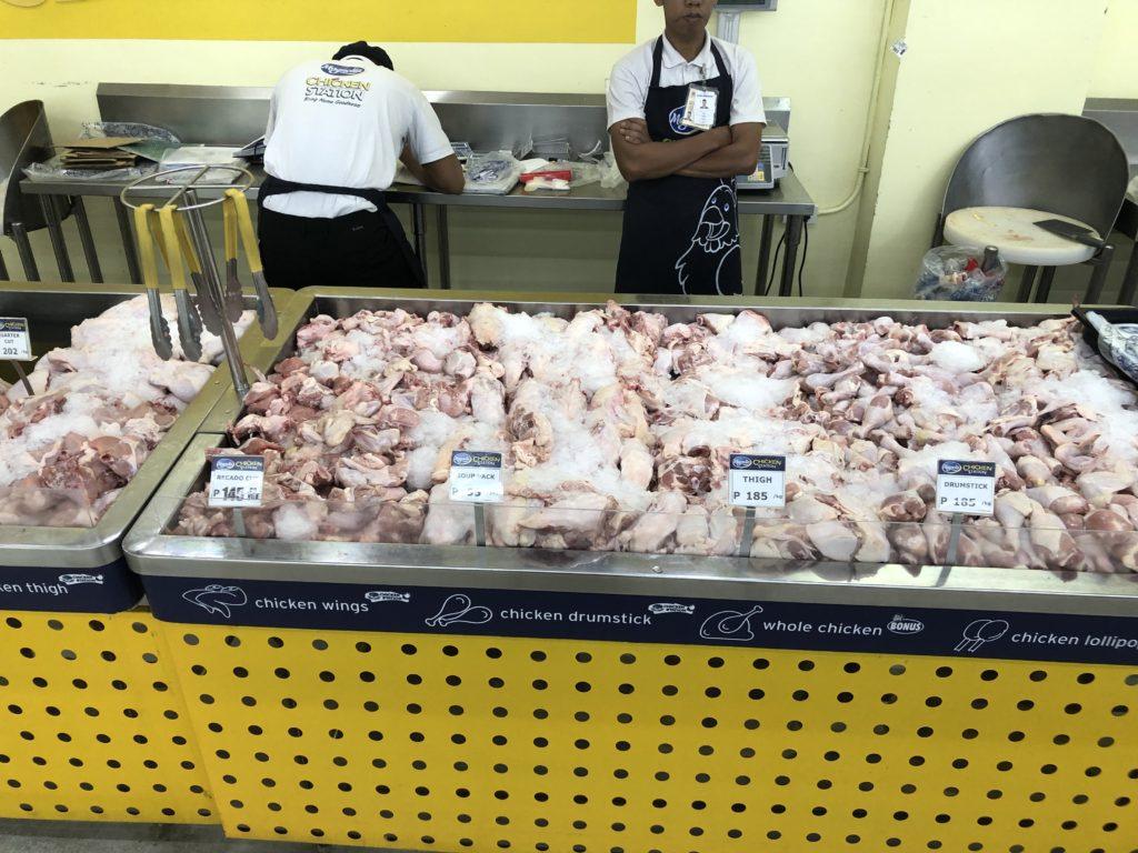 フィリピン・鶏肉を買える場所