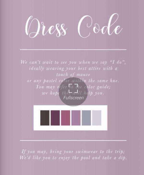 今回の結婚式でのドレスコード