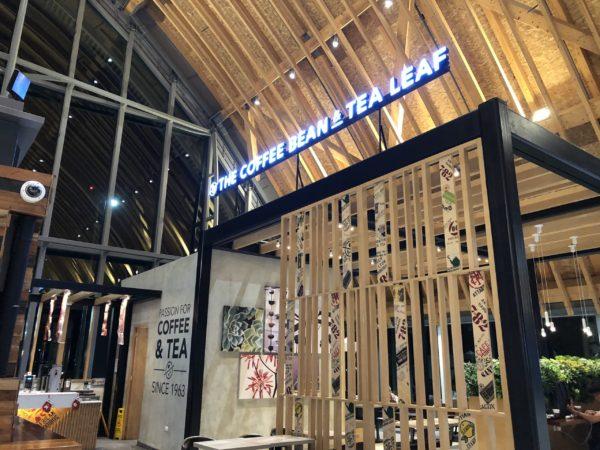 マクタン空港の新ターミナルのコーヒーショップ