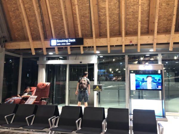 セブ・マクタン空港の喫煙所