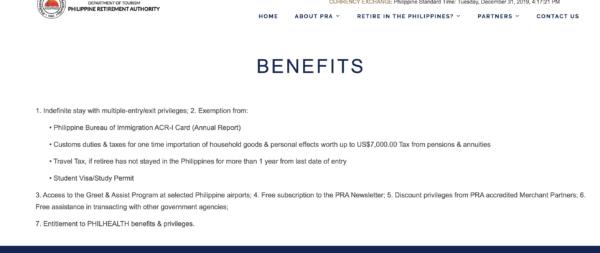 フィリピンのリタイヤメントビザのメリットを考察