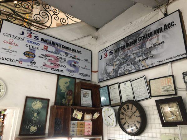 フィリピンで時計の修理
