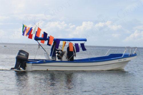 シキホール・ココグローブ・リゾートのボート