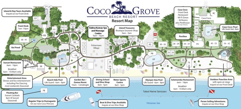 ココグローブ・シキホールのリゾートマップ