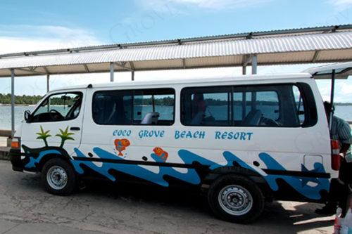フィリピン・シキホールのココグローブ専用送迎車