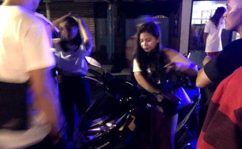フィリピンでバイクの接触事故