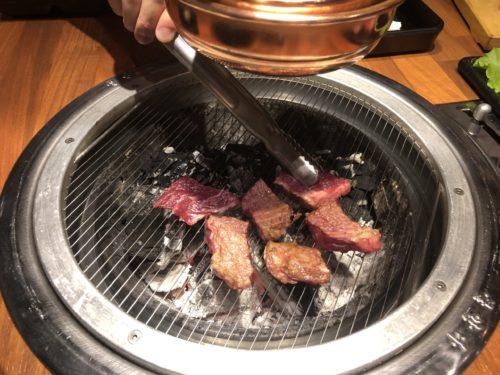 ドゥマゲッティの韓国焼肉の牛肉。