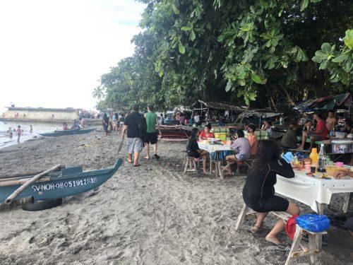 シリマンビーチの景色