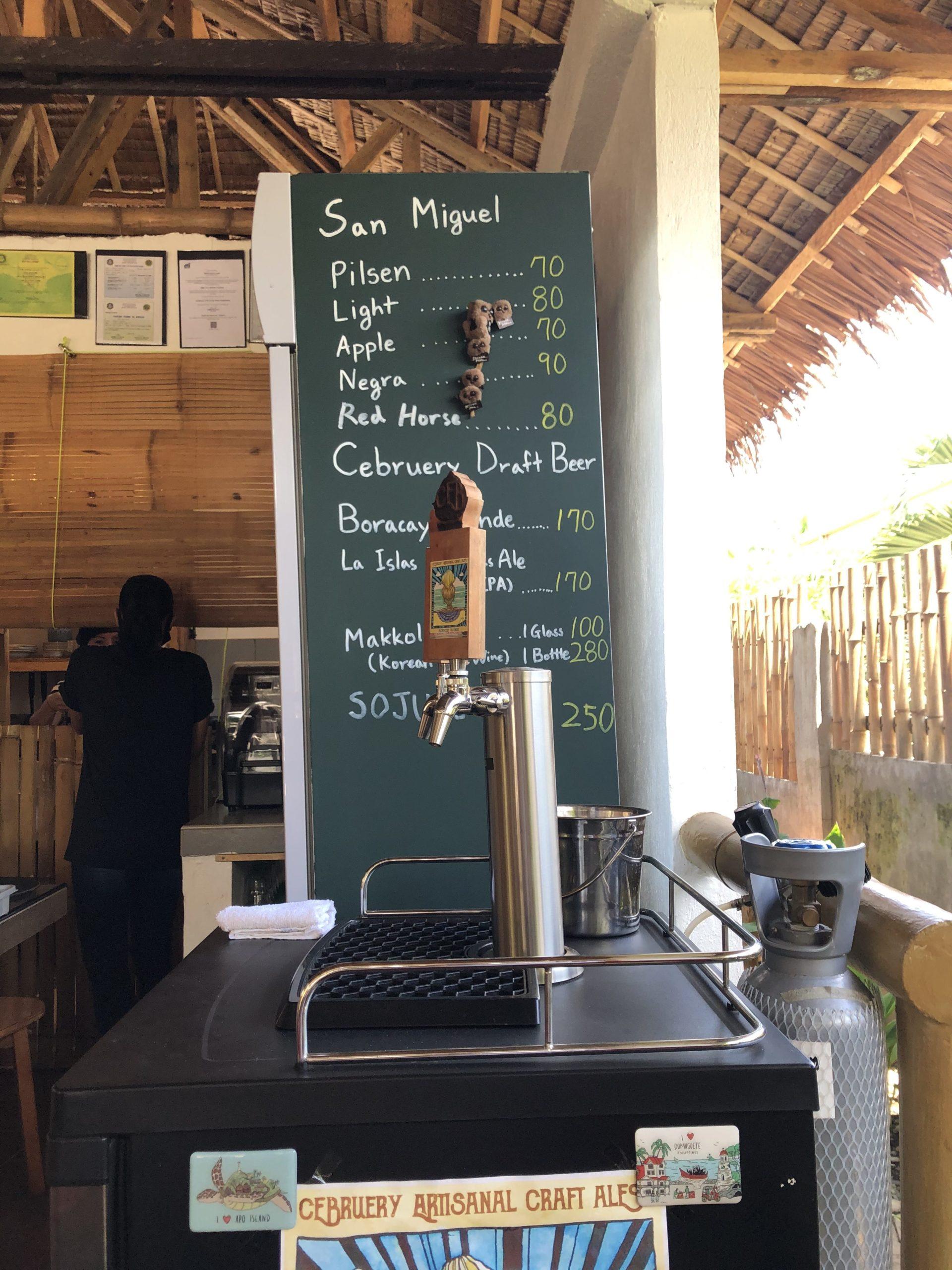 ドゥマゲッティ・ダーウィンのカフェバーSOGA「地ビール」