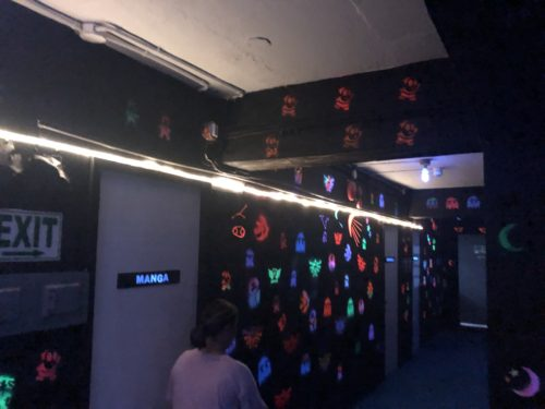 個室ゲームAKの内装