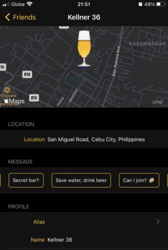 酒好きのためのSNSアプリのマップ機能