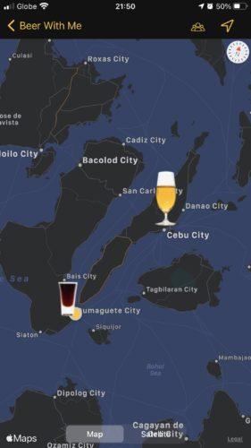 酒好きのためのSNSアプリのマップ機能②